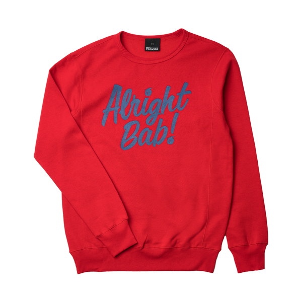 Alright Bab Crewneck (Red)