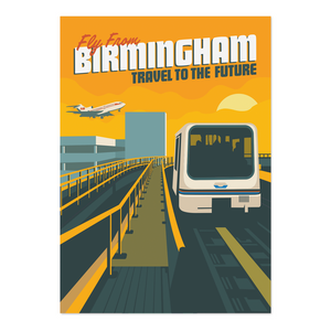 Fly from Birmingham Print
