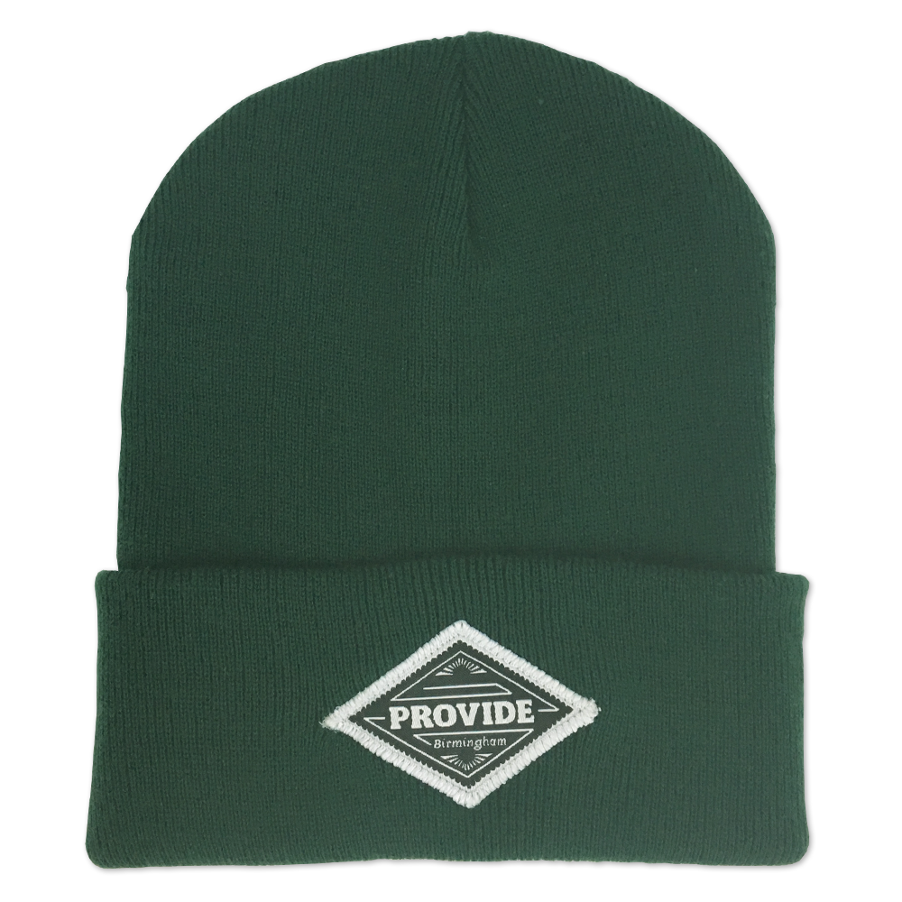 Diamond Beanie (Forest Green)