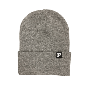 P Beanie (Heather Grey)