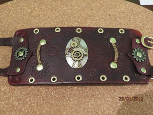 Leather Steampunk Cuff Bracelet