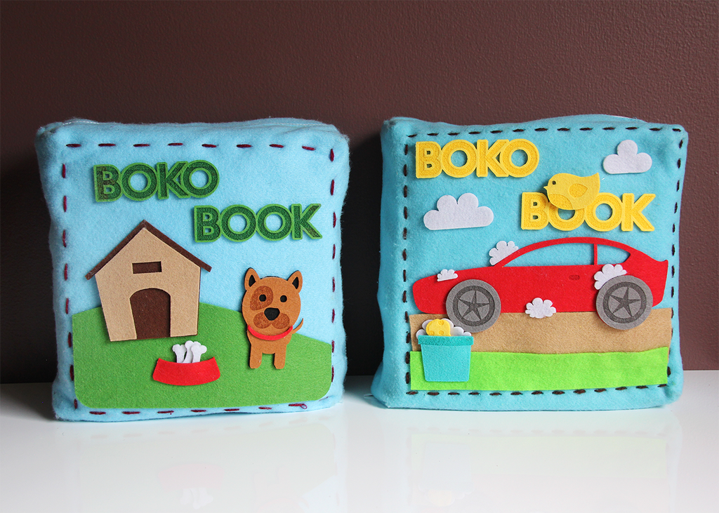 Both versions of Boko Book