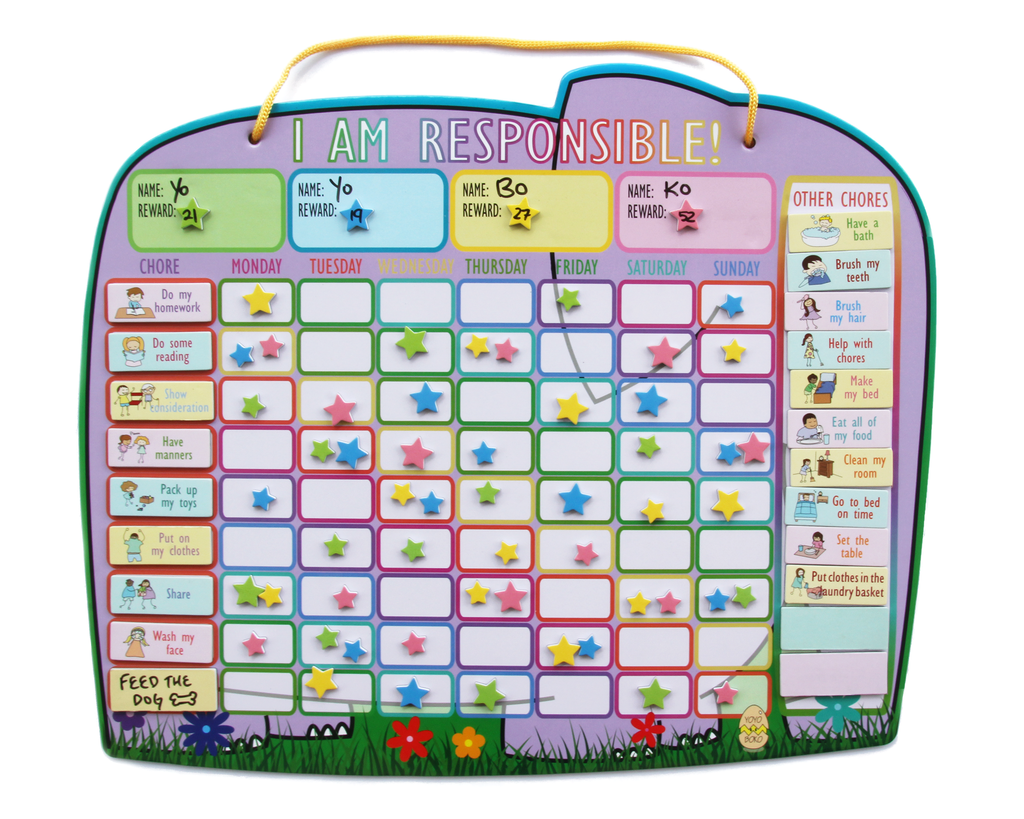 Yoyoboko I am Responsible Ele-fun Star Chart for 4 kids