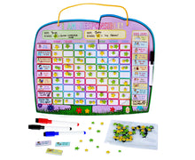 "Load image into Gallery viewer, ""I Am Responsible"" Ele-Fun Star Chart (2 kids) - Yoyoboko"