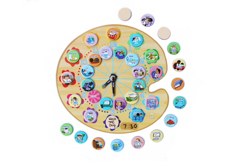 Paint My Day Activity Planning Clock - Yoyoboko