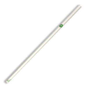 6mm Regular White BioStraw- 2500pcs