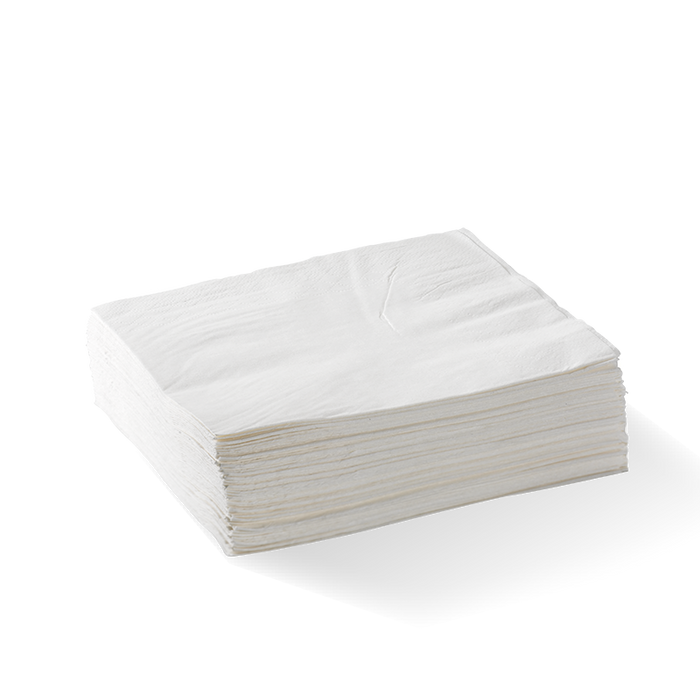 2 Ply 1/4 Fold White Lunch BioNapkin- 2000pcs