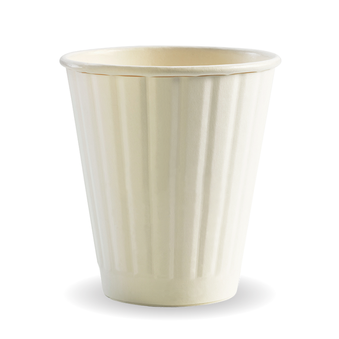 8oz (90mm) White BioCup - Double Wall - 1000 Cups