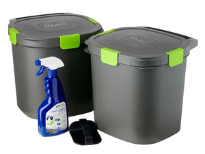 Maze 14lt Indoor Composter Twin Pack- Airtight Bokashi System