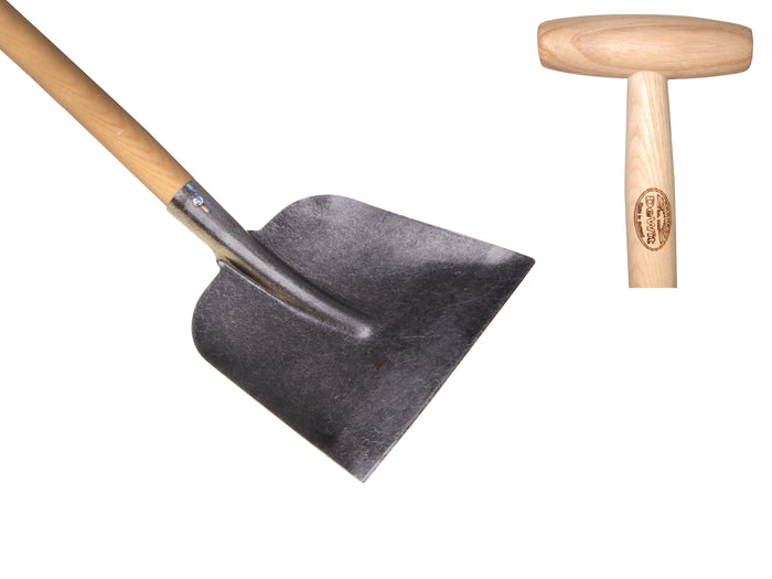 Flat mount shovel with 1100mm ash handle