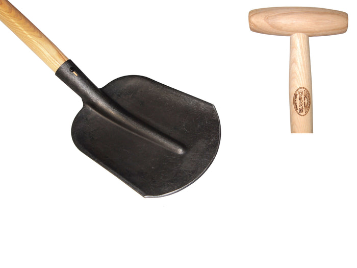 Dutch type shovel with 1100mm ash T bar handle