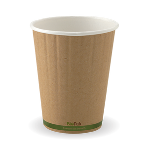 12oz Green Stripe BioCup - Double Wall - 1000 Cups