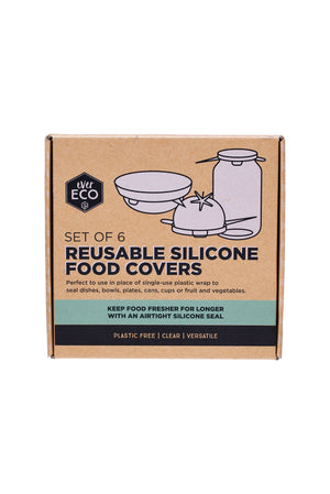 SILICONE FOOD COVER SET OF 6