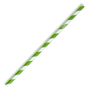 6mm Regular Green Stripe BioStraw- 2500pcs