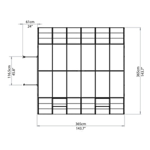 Maze 12ft x 12ft Americana Greenhouse (Ask us for a deal today)
