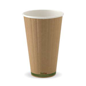 16oz Green Stripe BioCup - Double Wall - 600 Cups