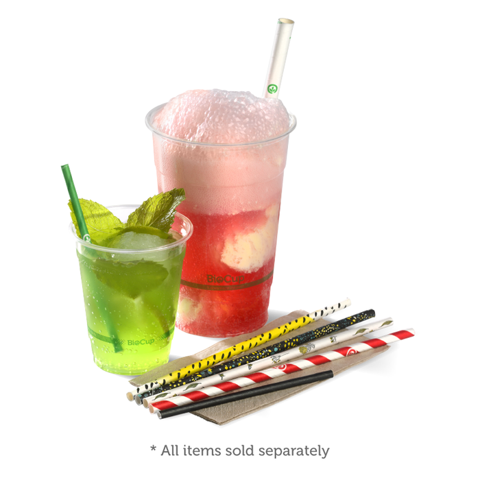 Cocktail Black BioStraw- 2500pcs