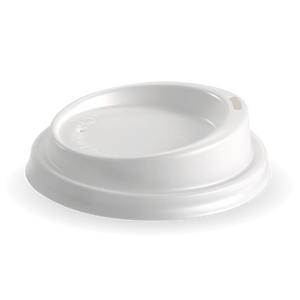 6,- 12oz (80mm DIA) PS White Small Lid - 1000 Lids