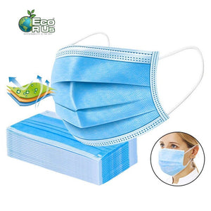 10 x Face Masks 3 Layer with Elastic Ear Loop Dust-proof Anti-bacteria (Limited Stock) - Eco R Us