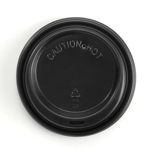 8- 20oz (90mm DIA) PS Black Large Lid Enviro Friendly- Bulk Buy-1000 Lids