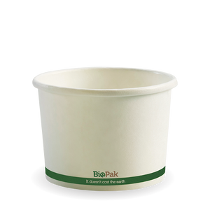 16oz White BioBowl - 500pcs