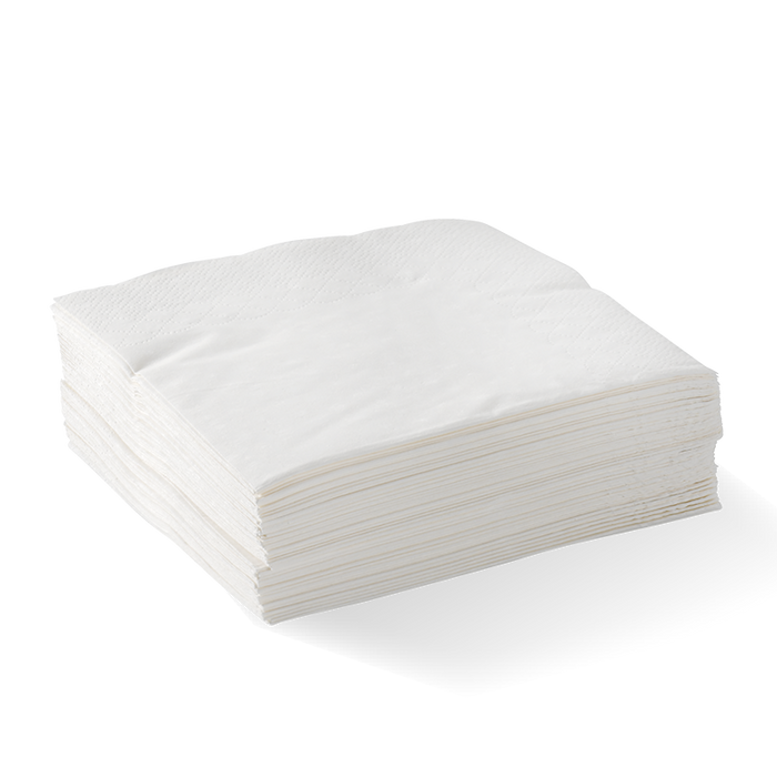 2 Ply 1/4 Fold White Emb'sed Dinner Napkin- 1000pcs