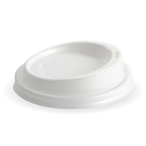 8-20oz (90mm DIA) PS White Large Lid - Bulk Buy- 1000 Lids