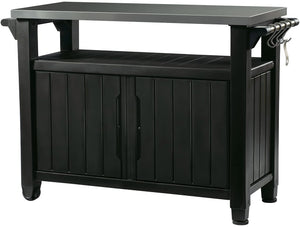 KETER Unity XL Outdoor/Indoor Storage /Entertainment Cabinet (Black)