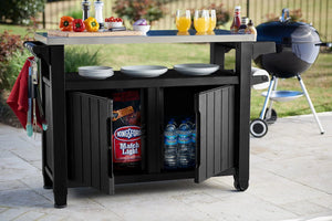 Keter Unity XL Outdoor/Indoor Storage /Entertainment Cabinet (Black)- Pre order End October
