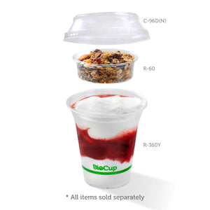 300-700ml Clear Dome No Hole Lid - 1000pcs