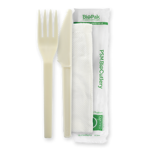 "6"" PSM Knife, Fork and Napkin Set- 250pcs"