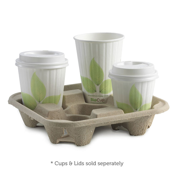 4 Cup BioCup Tray - Bulk Buy- 300pcs