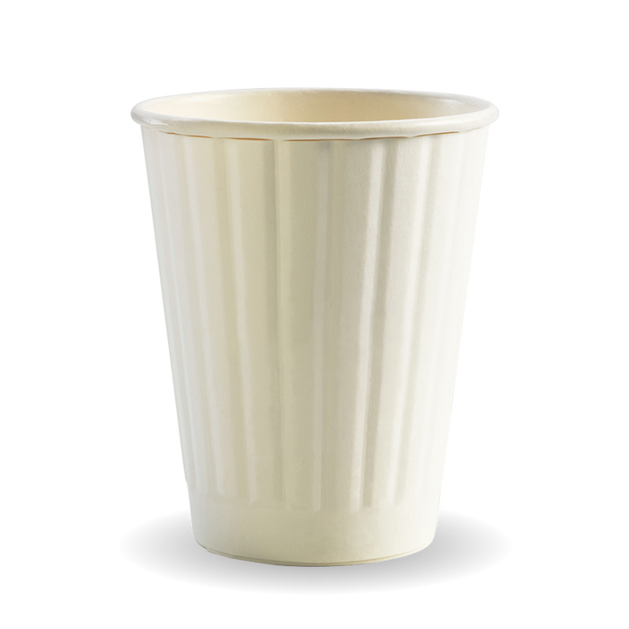 8oz White BioCup - Double Wall - 1000 Cups