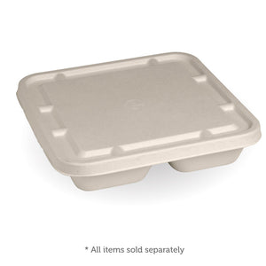 3-Compartment Large Natural Takeaway Base Lid- 300pcs