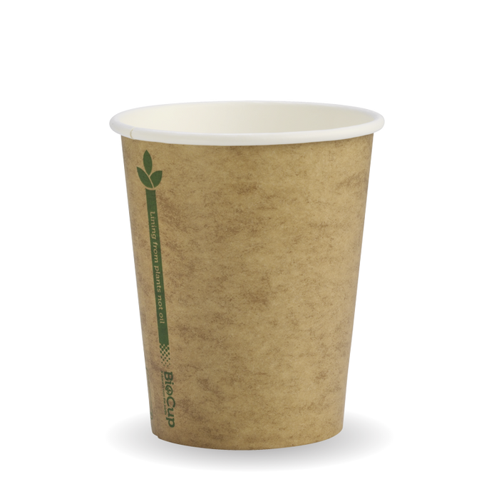 8oz Kraft Green Line BioCup- 1000 Cups