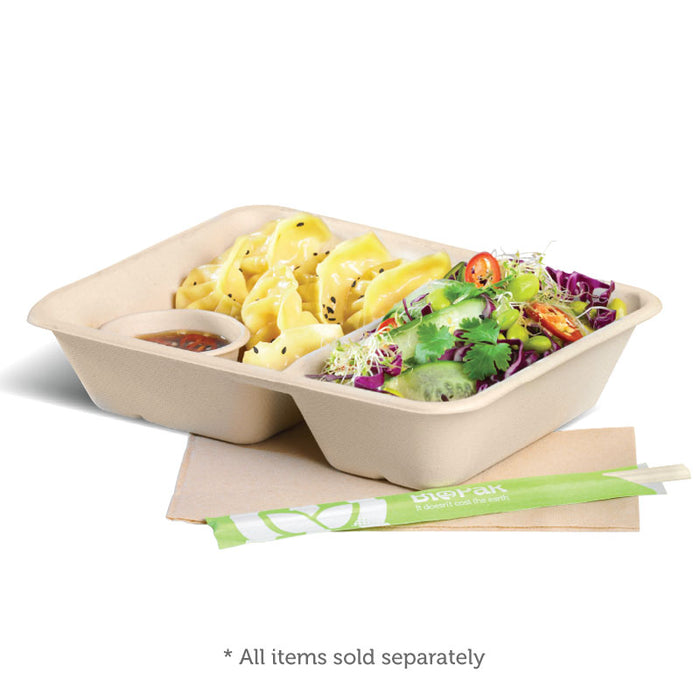 2 Compartment Natural BioCane Takeaway Base