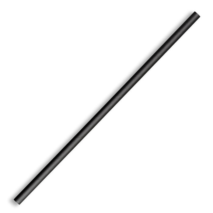 6mm Regular Black BioStraw- 2500pcs