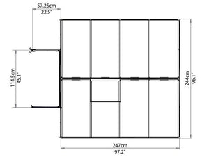 Maze 8 x 12′ Green Frame Greenhouse pre order for July delivery