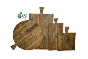 Eco R Us BreadBoard (Round: 50dia 60inc handle)-Made from recycled elm