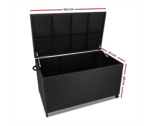 Eco R Us- 320L Indoor/Outdoor Storage Box, Black-limited stock