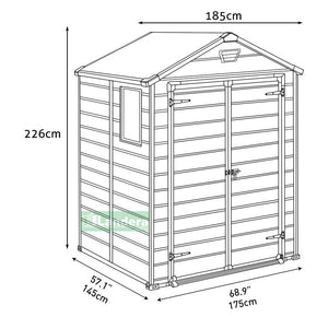 Keter Manor 6'x5′ Garden Shed $8.90 Shipping Australia Wide