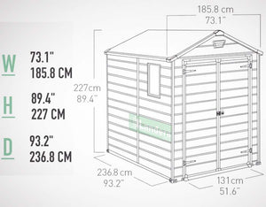 Keter Manor 6'x8′ GARDEN SHED $8.90 Shipping Australia Wide