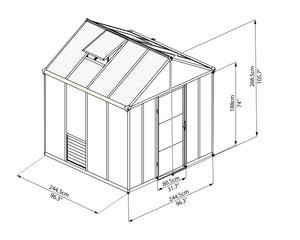 Maze Glory 8 x 8 Premium Class Greenhouse – 10 Year Warranty-Pre Order late November