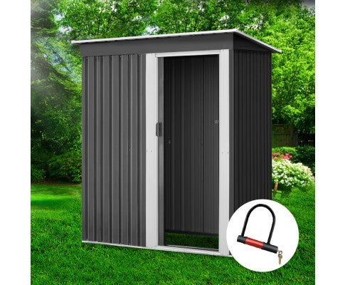 Garden Shed Eco R Us 1.64x0.89M Outdoor Storage Sheds Tool Workshop Shelter Metal- Pre order Mid July