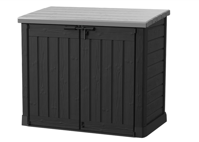 Keter Store-It-Out Max Outdoor Storage/Wheelie Bin Shed (Black/Grey) $8.90 Shipping Australia Wide Pre Order March