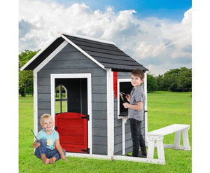 Eco R Us Kids Eco Friendly Cubby House Outdoor Wooden Playhouse- Pre Order End October
