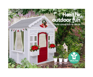Kids Eco Friendly Cubby House Outdoor Wooden Playhouse- Eco R Us- Due end Dec