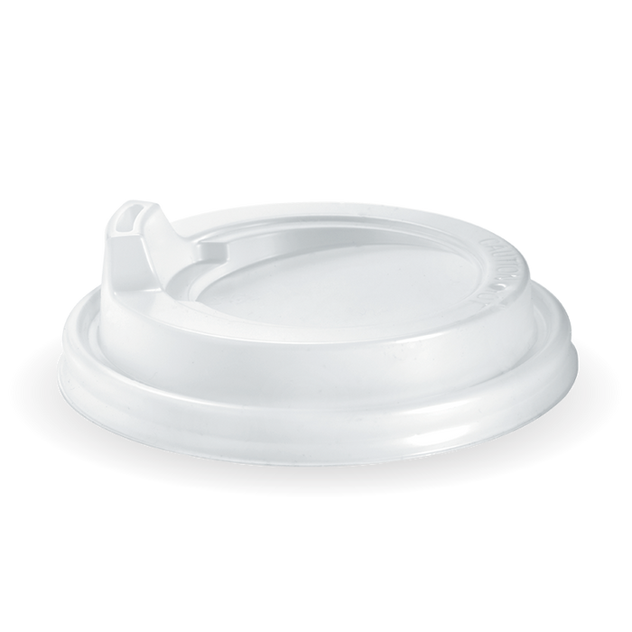 8-20oz (90mm DIA) PS White Large Sipper Lid - Bulk Buy- 1000 Lids
