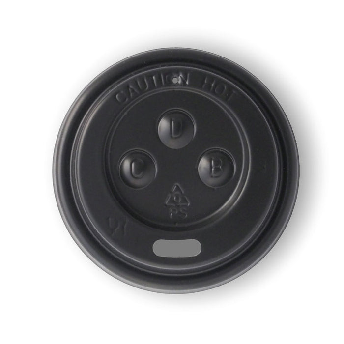 4oz PS Black Sipper Lid - 1000 Lids