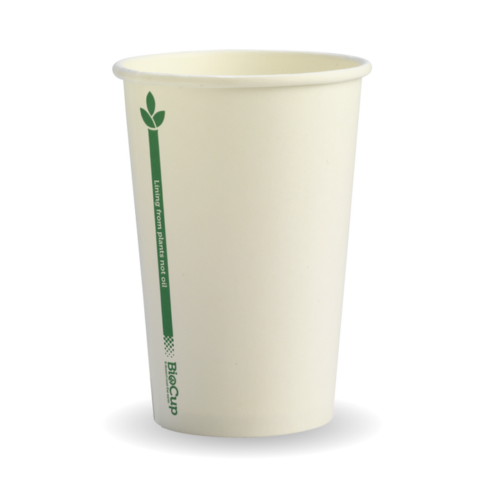 10oz Whire Green Line BioCup - 1000 Cups